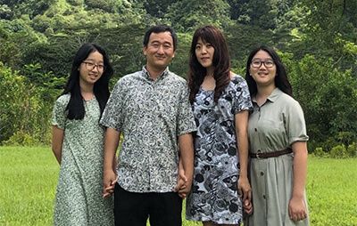 Dr. Wee and his family